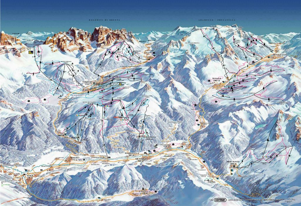 zona de ski Val di Sole - Tabara de ski Italia